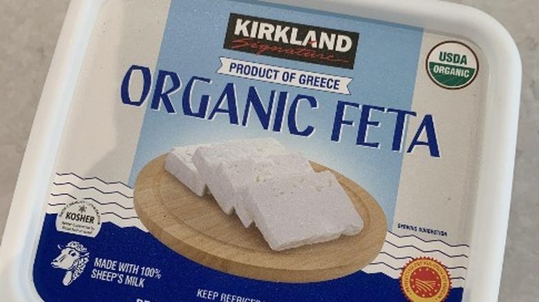 Kirkland brand organic feta cheese