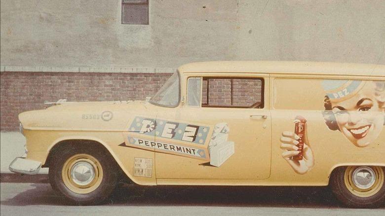 Vintage ad for original PEZ mints