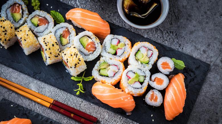 Sushi variety platter