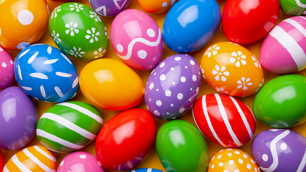Easter eggs with intricate decorations