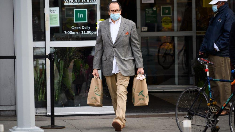 Customer leaving Whole Foods