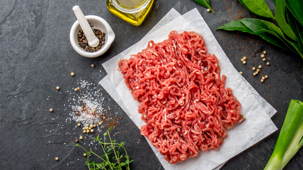 ground beef with spices