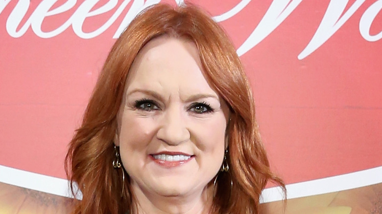 Ree Drummond with a microphone
