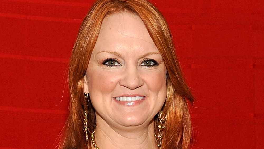 Ree Drummond and red background