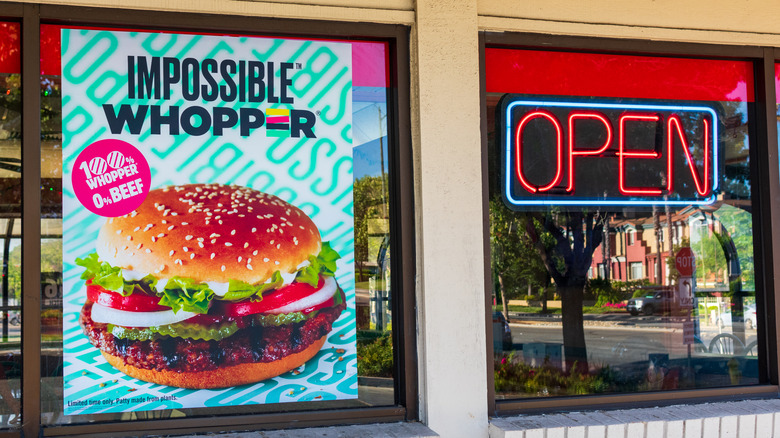 Burger King advertising their Impossible Whopper