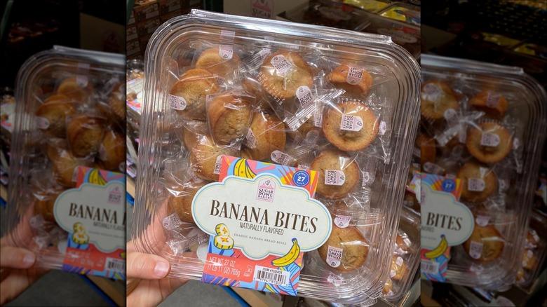 Banana bites in plastic