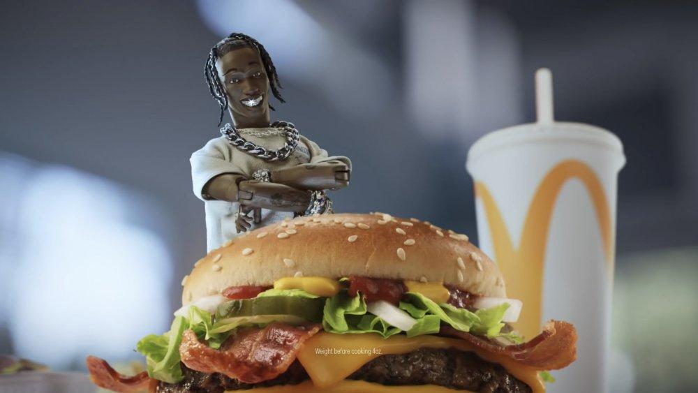 Travis Scott action figure in McDonald's commercial