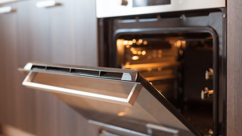 oven with open door