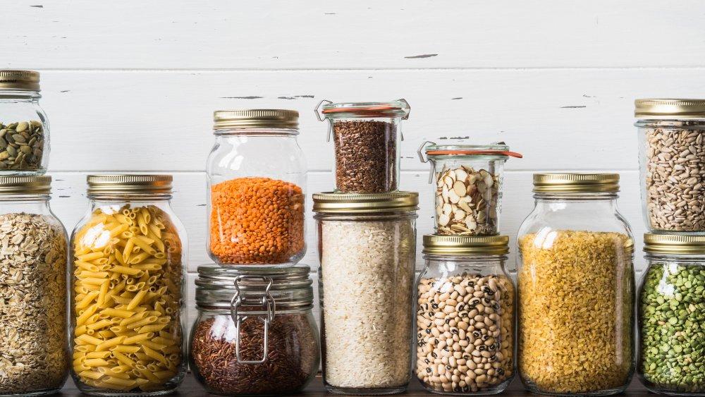 jars of grains