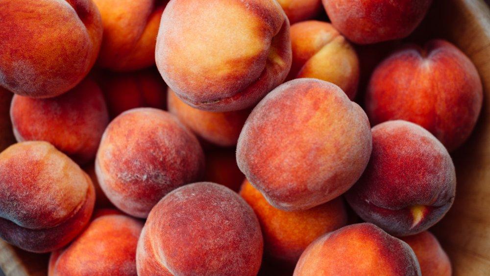 A barrel of peaches