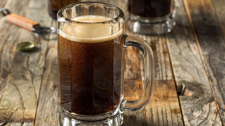 birch beer in mug