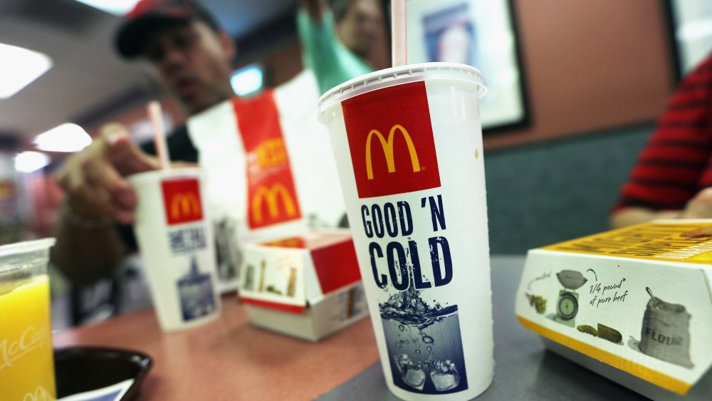 McDonald's soda served with a meal