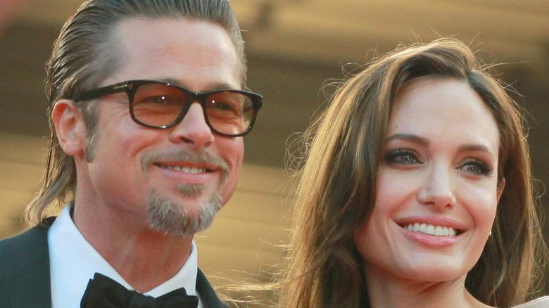 Brad Pitt and Angelina Jolie Smiling