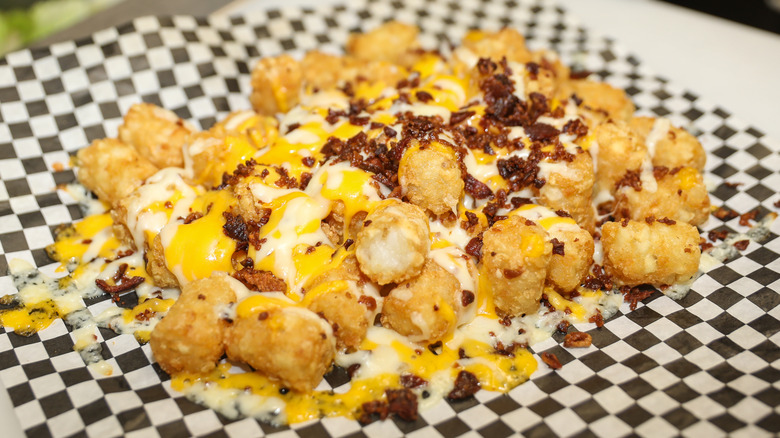 Tater tots with bacon bits