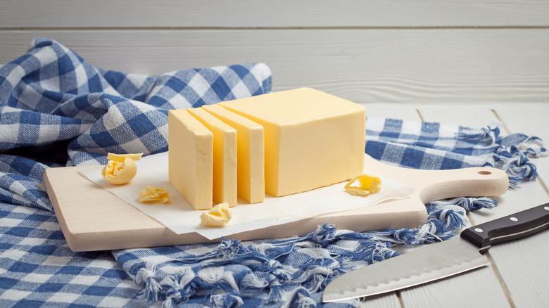 Chopped stick of butter