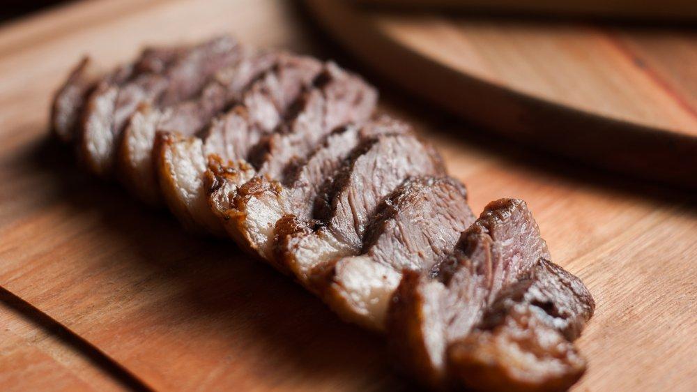 steak on a slab