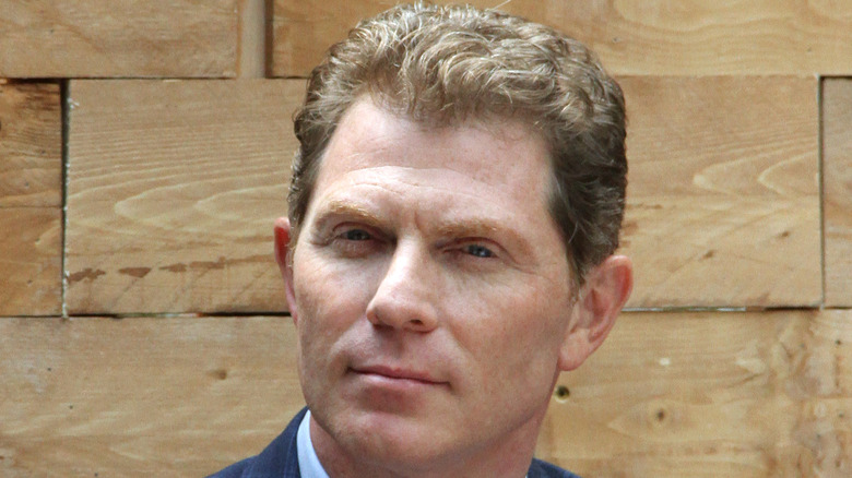 Bobby Flay in a blue jacket