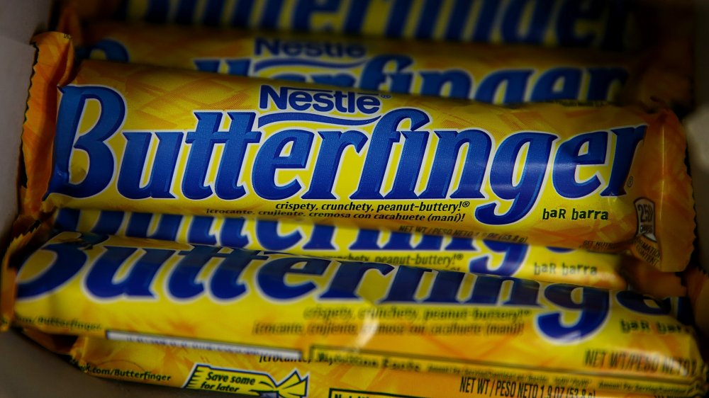 Display of Butterfingers in a store