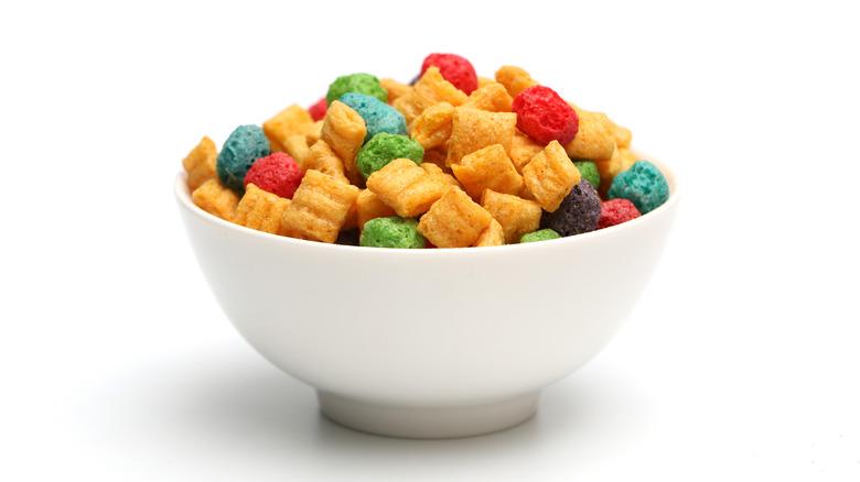 Bowl of Cap'n Crunch cereal