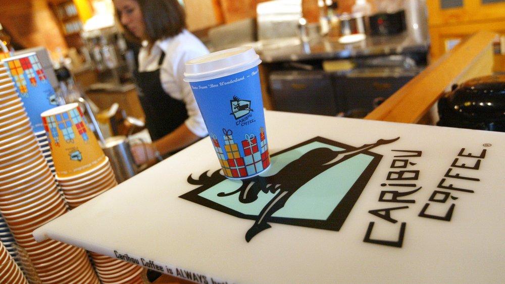 Caribou Coffee employee working