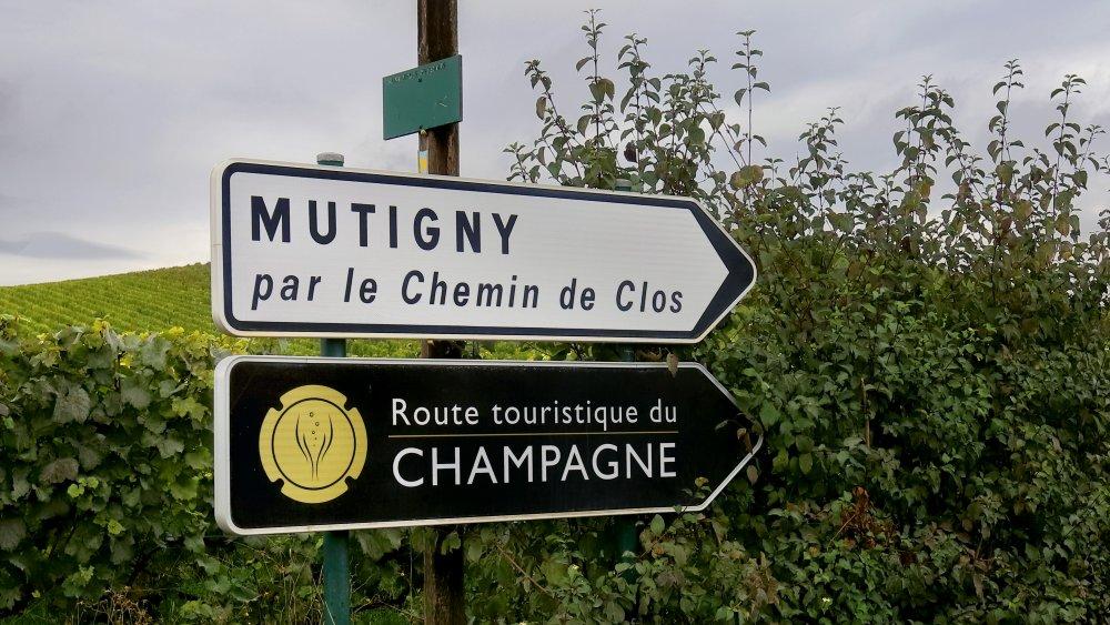 Champagne region tourist sign