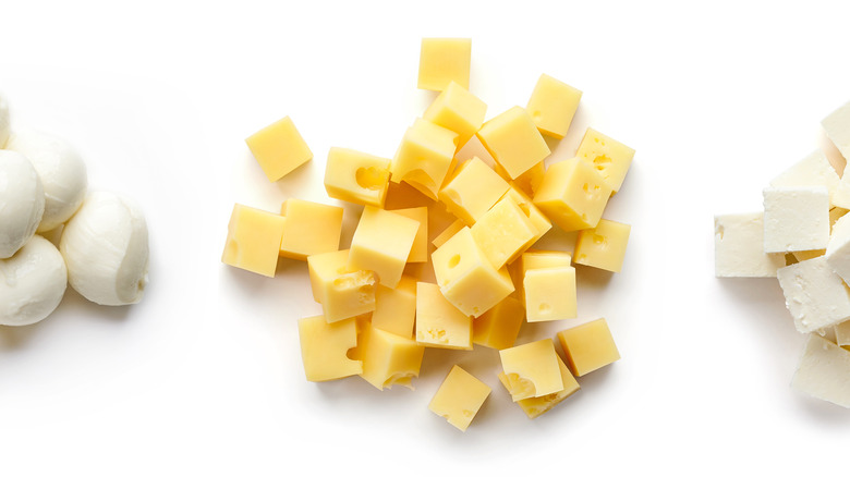 3 types of bite-sized cheese