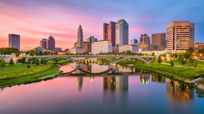 sunset of Columbus Ohio