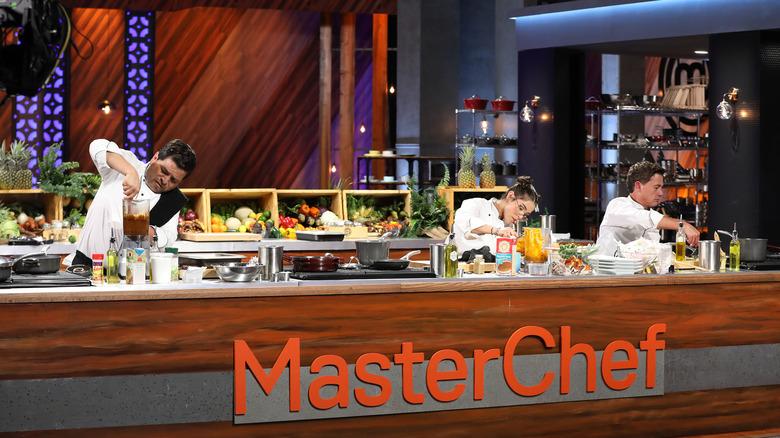 Chefs in Masterchef kitchen