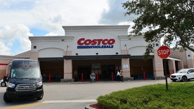 Exterior of a Costco store