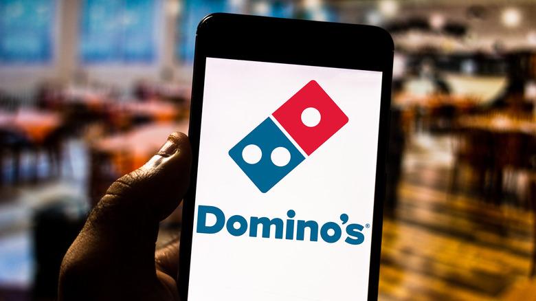 Domino's app on phone