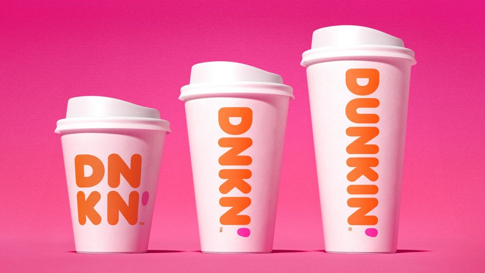 Dunkin' coffee cups