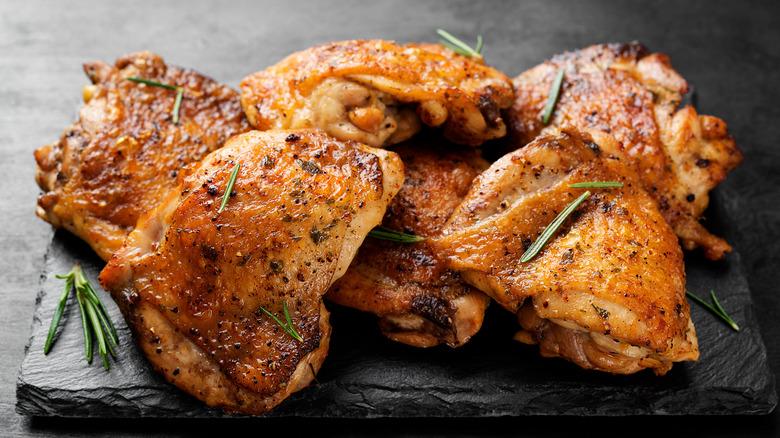 An assortment of chicken