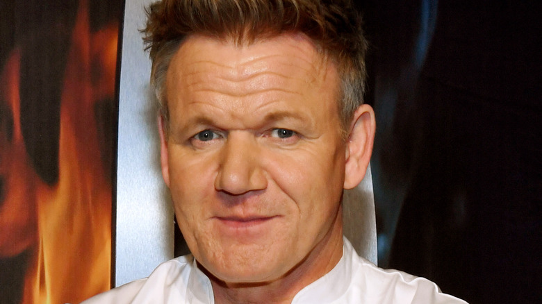 Celebrity chef Gordon Ramsay, close-up