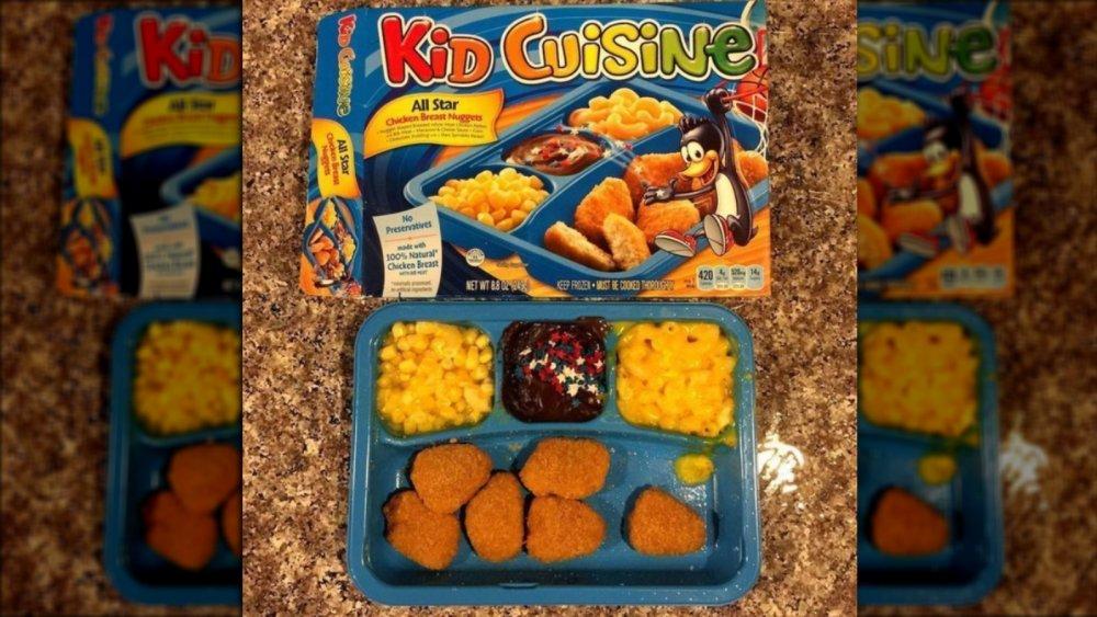 Kid Cuisine box with mascot