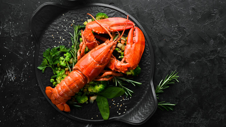 A plate of lobster