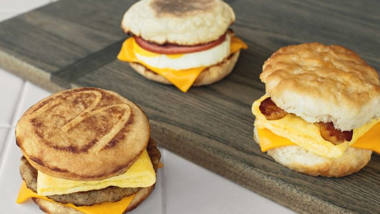 McDonald's breakfast sandwiches