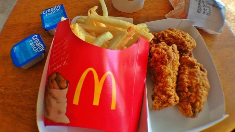 McDonald's Mighty Wings and fries