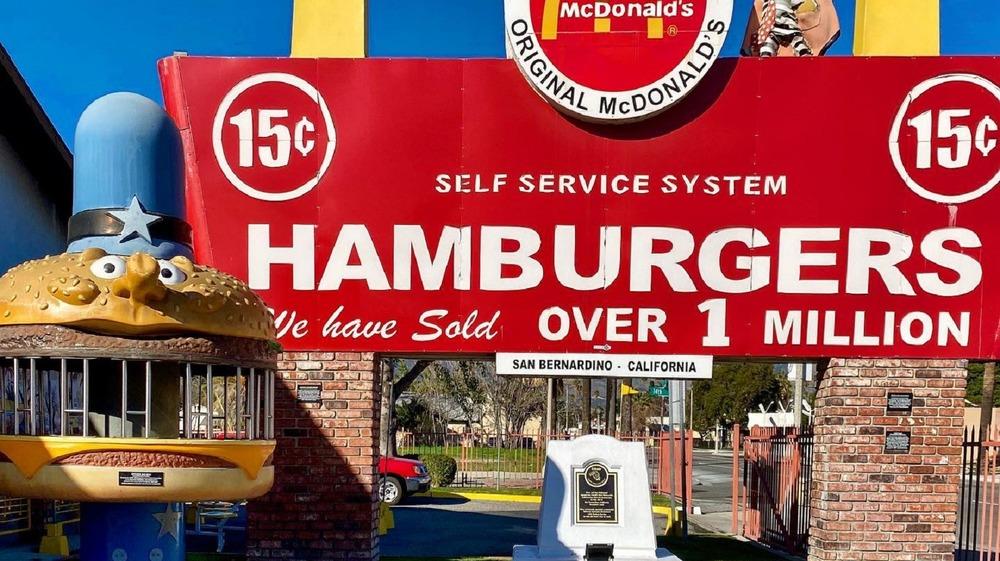 Officer Big Mac outside of a McDonald's