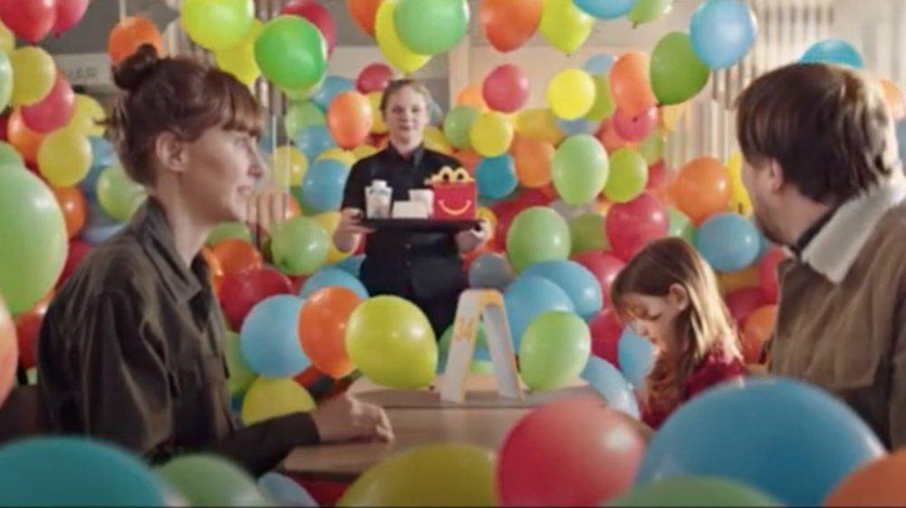 Swedish McDonald's ad eliminating balloons