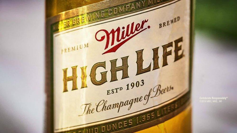 Bottle of Miller High Life