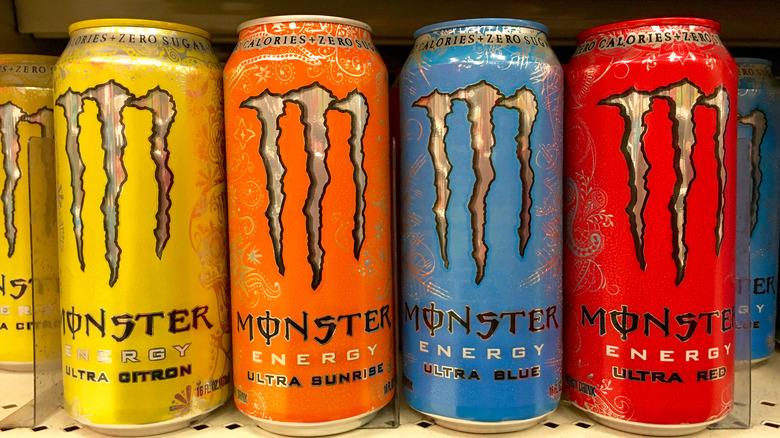 Varieties of Monster Energy Drinks
