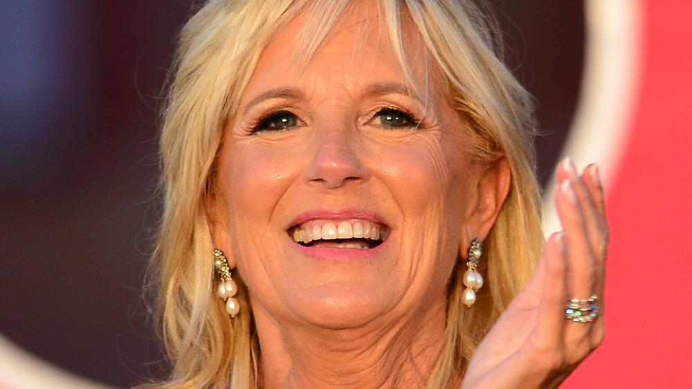 Jill Biden clapping and smiling