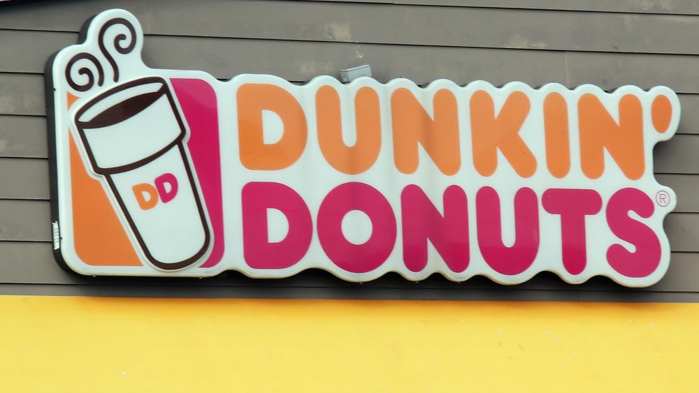 Dunkin' exterior sign