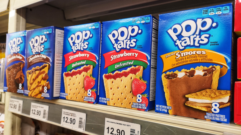 Pop-Tarts on a shelf
