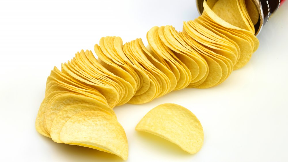 Pringles coming out of can