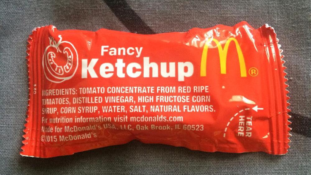 McDonald's ketchup packet