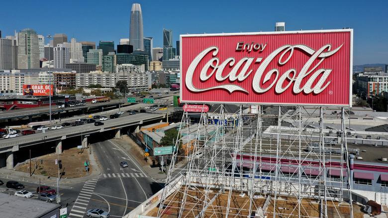 San Francisco's lighted Coca-Cola billboard