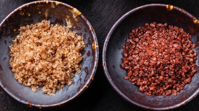 bowl of red salt