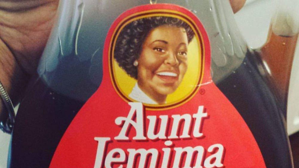 Aunt Jemima syrup label