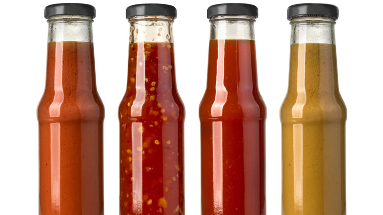 different hot sauces
